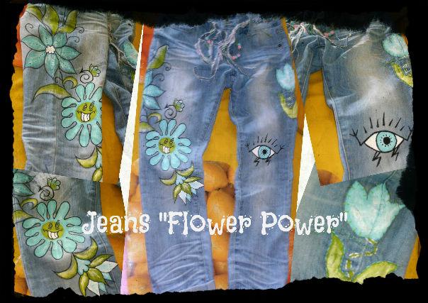 Jeans `Flower Power`