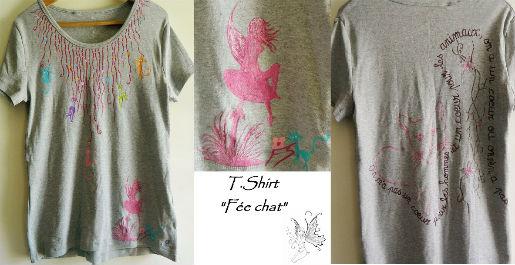 T.Shirt `Fée chat`